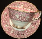 Crown Staffordshire, Rare Ellesmere pattern in Pink  (England)