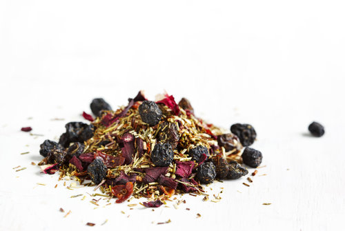 Blueberry Bliss Rooibos Tea.