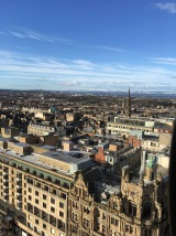 A view from the top of the Sir Walter Scott Monument