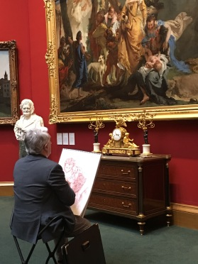 Sketching in the Scottish National Gallery