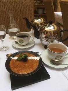 Matcha Creme Brulee with Darjeeling and Opera Blue Teas