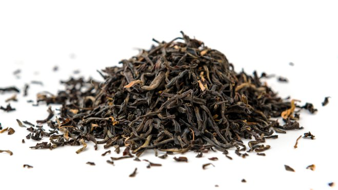 Indian ASSAM golden tips tea isolated