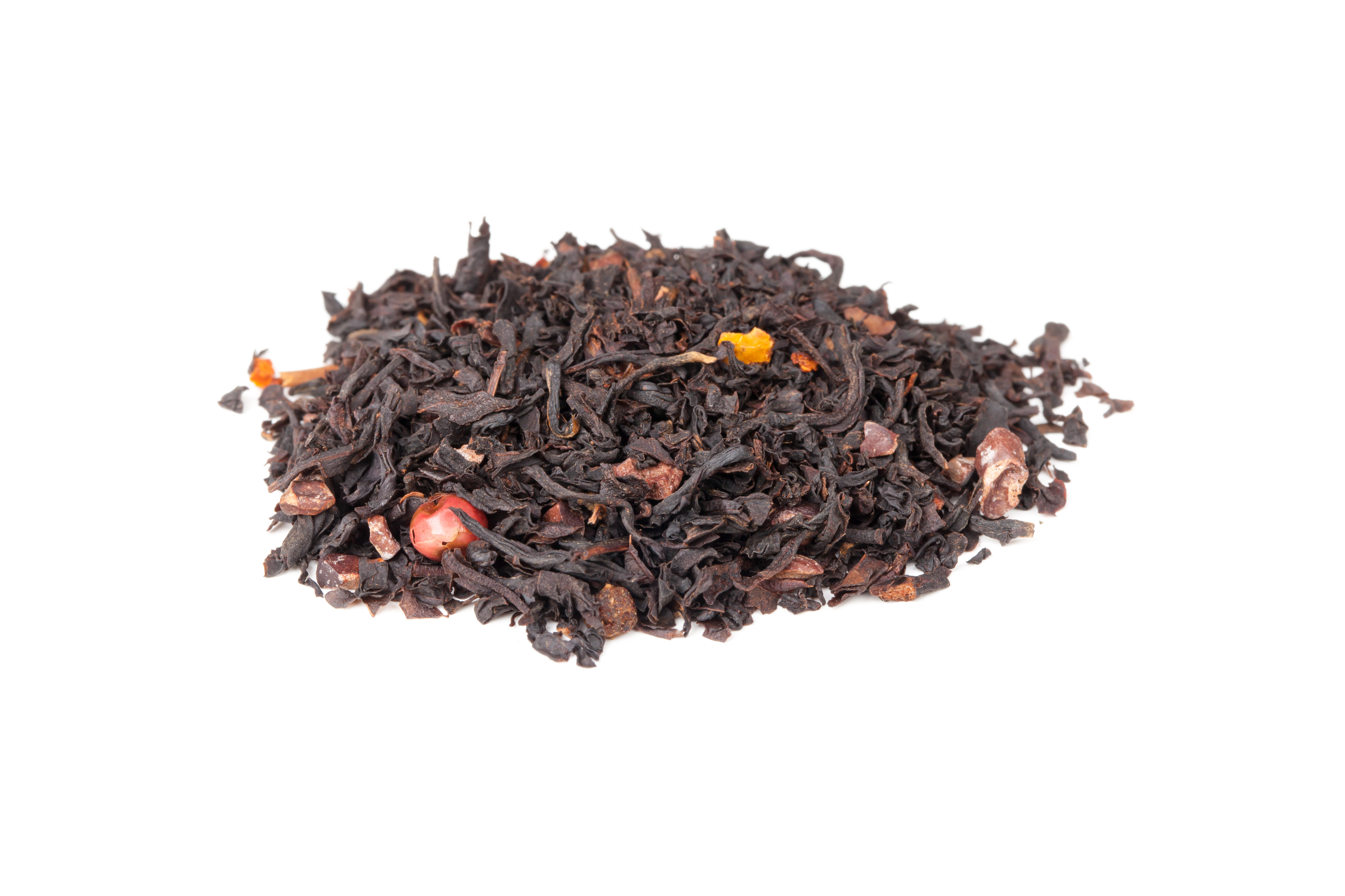 Mixed black Truffle spicy tea isolated on white